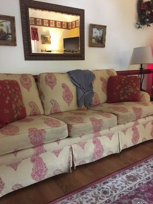 Upholstered Couch and Chair with Ottoman for Sale in Forest, VA