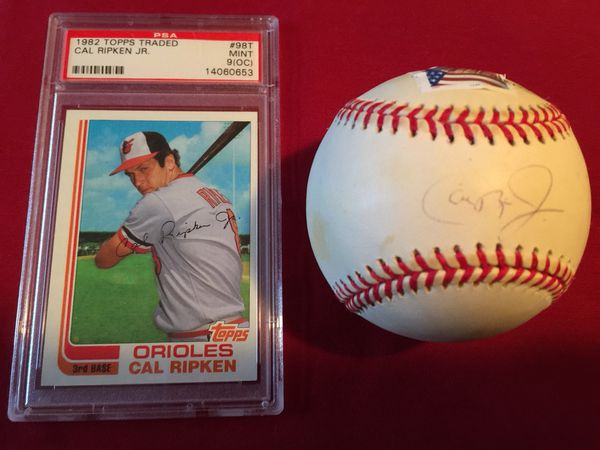 Cal Ripken Jr Set Rookie Card And Autographed 3000 Hit Club Ball Authenticated Baseball For Sale In Bristol Ct Offerup