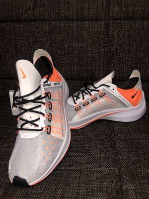 Photo Nike EXP-X14 SE Just Do It Running Shoes Men's Size 9.5 White Orange AO3095-100