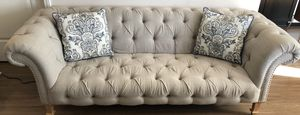 Beige Tufted Sofa for Sale in Los Angeles, CA