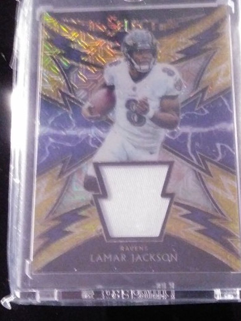 2018 Select football Lamar Jackson RC #34 7/10