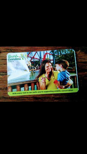 ((1)) ticket left- Busch Gardens (1) day pass Only $50 for Sale in Orlando, FL