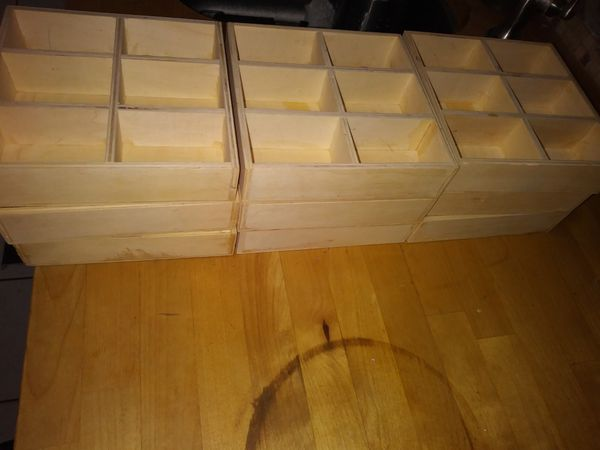 9 Wooden Boxes W 6 Compartments For Sale In Doral FL