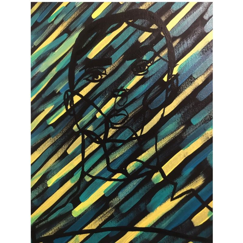 Abstract Girl Portrait Painting