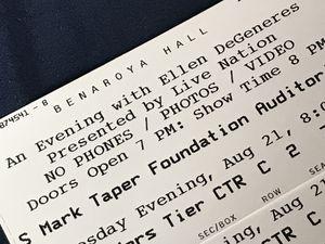 4 hard copy tickets to Ellen Degeneres 8/21 Tuesday for Sale in Seattle, WA