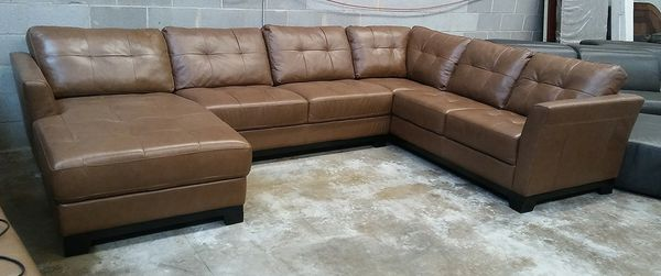 Martino 3pc Italian leather sectional sofa (Furniture) in Decatur ...