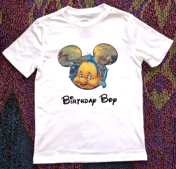 Disney Flounder Birthday Boy Shirt