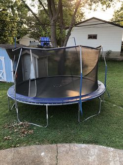 Trampoline With Net Thumbnail