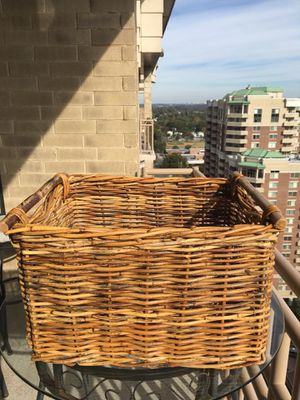 Basket - wicker basket large for Sale in Arlington, VA