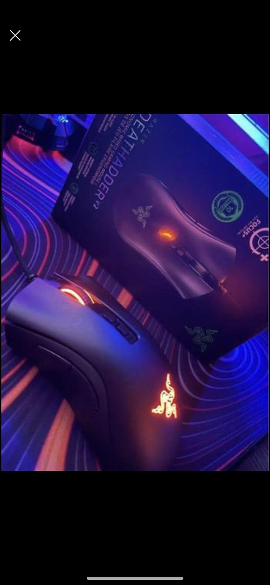 Gaming Bundle -Like new (Hyper X Cloud Flight S+Death Adder V2+Corsair K55 keyboard+ Red Dragon Rgb mousepad)