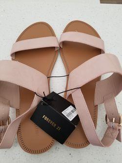 New Forever 21 Women's Sandals Blush Sz 10 Thumbnail