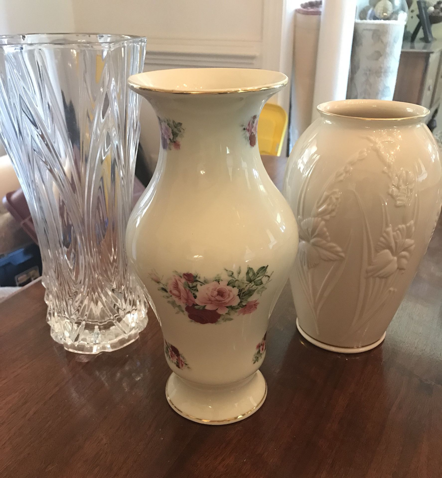 China and Crystal Vases