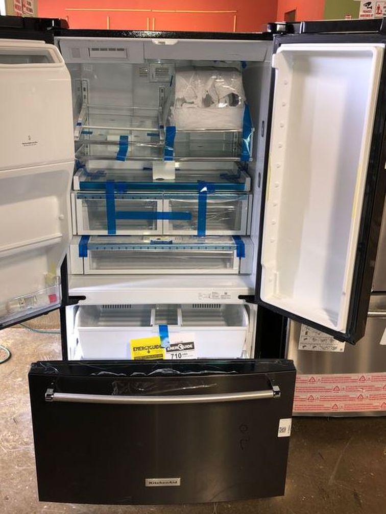 Brand New Kitchenaid French Door Refrigerator Dark Stain (Model:KRFF507HBS) 76