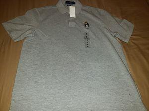 Photo Ralph Lauren Gray Polo Bear Polo shirt. Available in MEDIUM & LARGE.