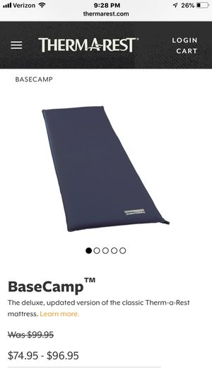 Thermarest basecamp xl air mattress for Sale in Tualatin, OR