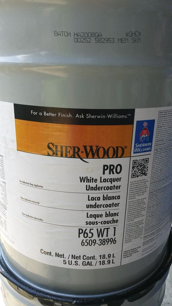 Sherwin Williams White Lacquer Undercoater 5 Gallons For In Houston Tx Offerup
