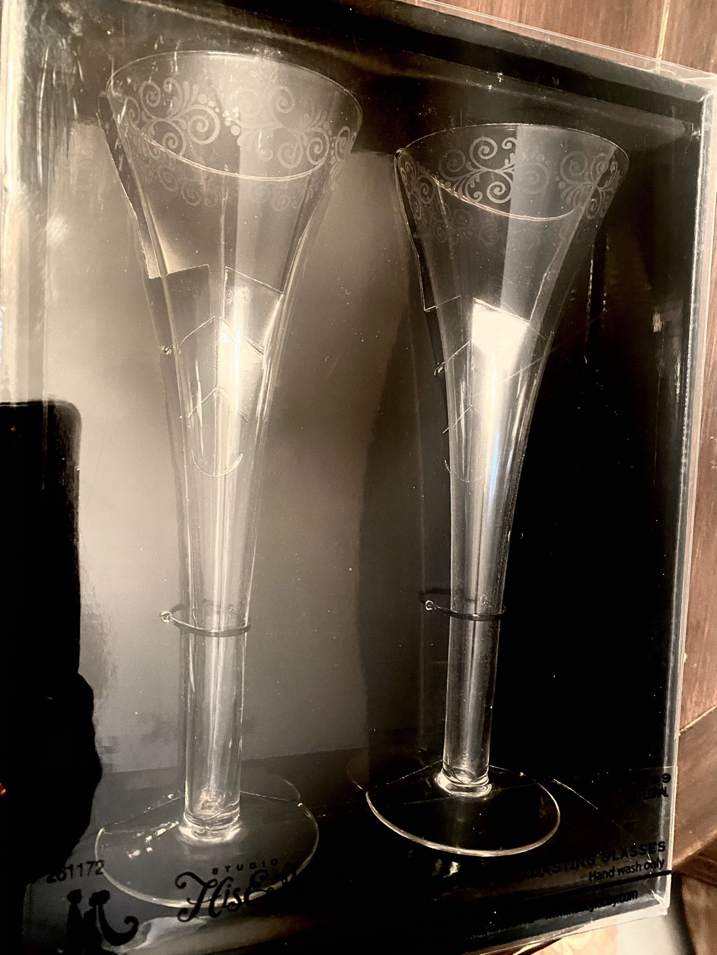 Toasting Glasses ( new in sealed box ) for Wedding or special occasion