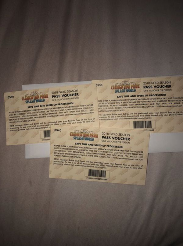 Amusement park tickets for Sale in Camden, NJ - OfferUp