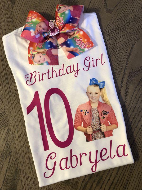 Jojo Siwa Birthday Girl Shirt Hair Bow