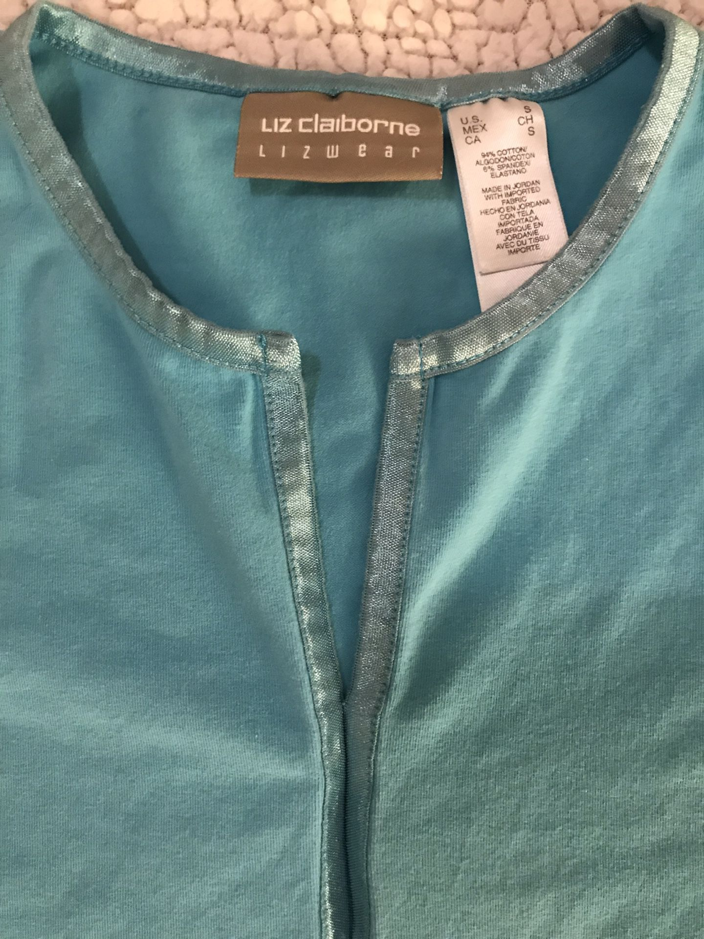 Liz Claiborne Lizwear bright blue shirt (Small)