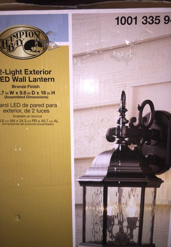 2-light exterior LED wall lantern