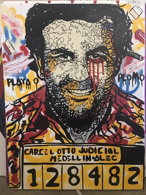 Alec Monopoly Pablo Escobar Painting 36 Quot X48 Quot For Sale In