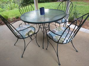 Table And 4 Chairs 5pc Patio Set Pr