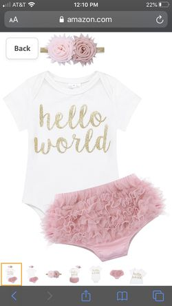 Brand new still in package Newborn baby girl outfit Thumbnail
