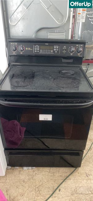 Photo 🚚💨Glass Top GE Electric Stove Oven Black #817🚚💨