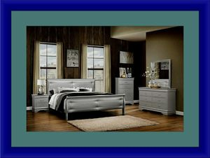 11pc Grey Marley bedroom set with mattress for Sale in Alexandria, VA