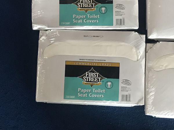 Commercial grade toilet seat covers (lot of 6) for Sale in Ontario ...