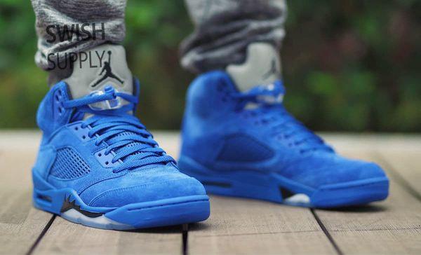 Retro 5 jordan blue suede for Sale in Newnan e3e06d147