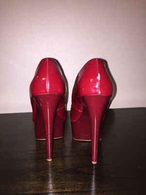 Red open toe pumps size 10 for sale  Wichita, KS