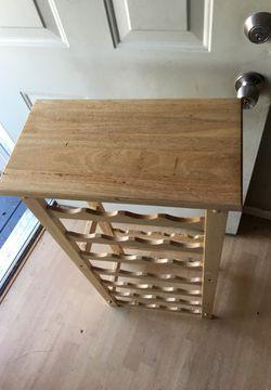 Wooden Wine rack 2ft tall 1.5 width holds 28 wine bottles Thumbnail