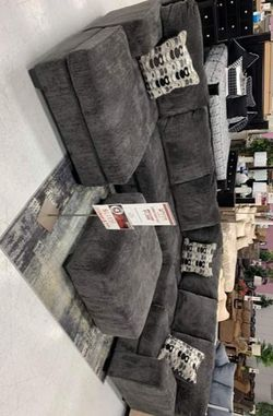 🚩SAME DAY DELIVERY🏁New Ashley Oversized Sectional.》39 Down Payment Thumbnail