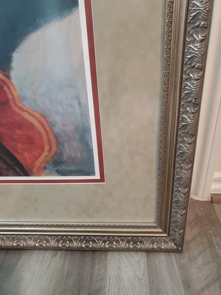 Large Matted Custom Framed Art. Beautiful Frame!