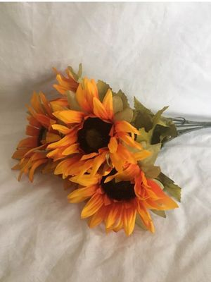 Large Fall Harvest Silk Crafting Orange Sunflowers for Sale in Union City, CA