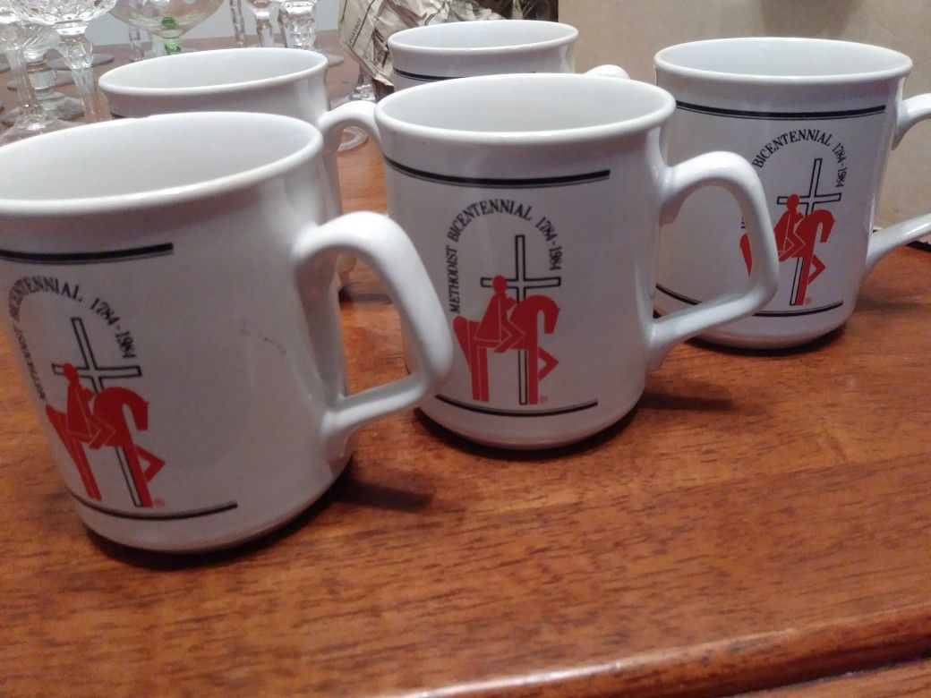 Methodist Bicentennial Mug Set of 5