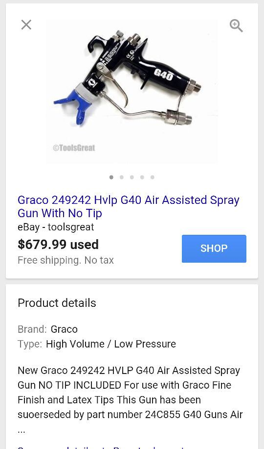 used G40 paint spray gun with 20ft hose for Sale in Irving, TX - OfferUp