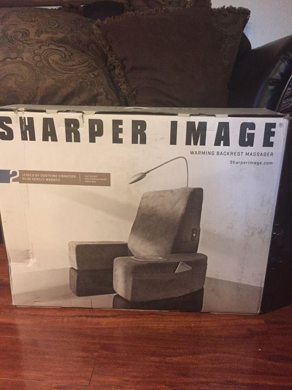 Sharper Image Warming Backrest Massager Excellent Condition For