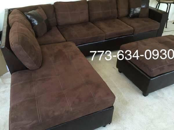 Brown sectional sofa with reversible chaise!!Brand new free delivery ...