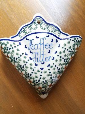 Polish Pottery Coffee filter holder for Sale in Fort Belvoir, VA