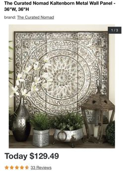 """The Curated Nomad Kaltenborn Metal Wall Panel - 36""""W, 36""""H Thumbnail"""