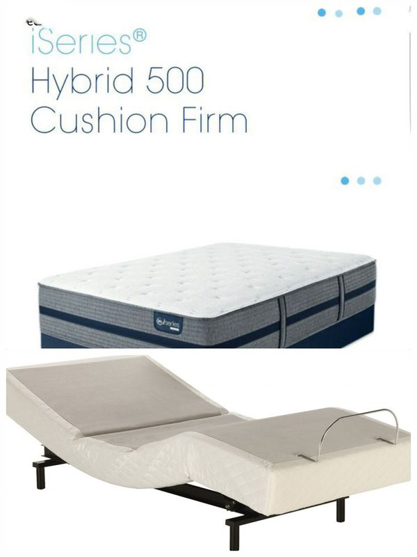 Serta Iseries Hybrid 500 14 125 Cushion Firm Queen With Adjule Base