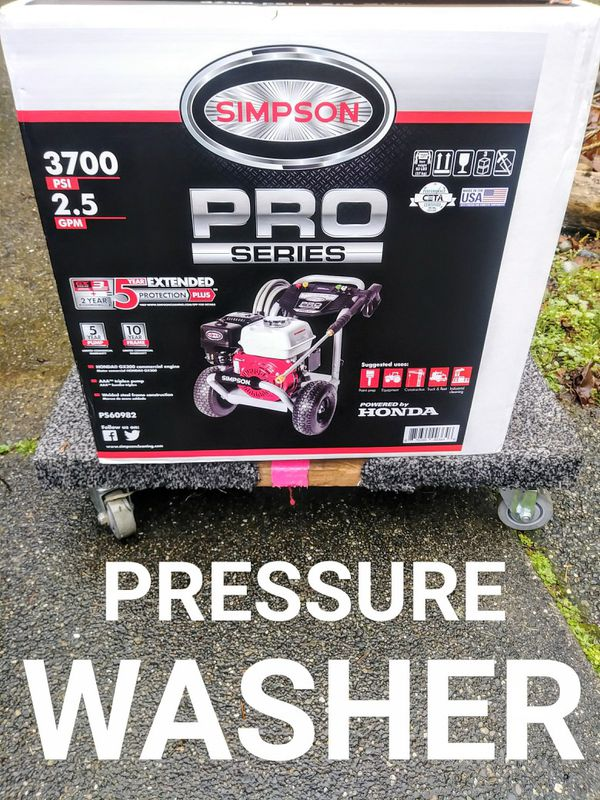 SIMPSON PowerShot 3700 PSI Gas Pressure Washer With HONDA Motor & CETA  Certified for Sale in Tacoma, WA - OfferUp