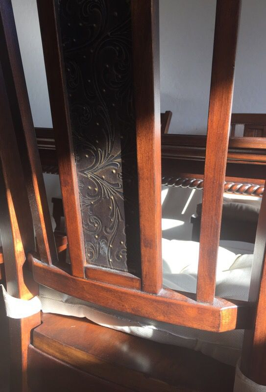 6 chairs dining set REAL WOOD