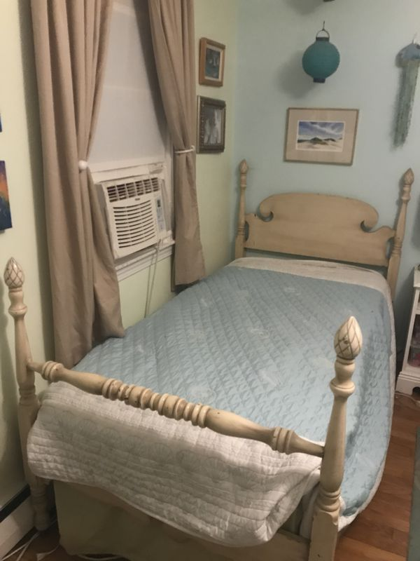 Vintage Shabby Chic Single Bed And Dresser Set For Sale In Providence RI