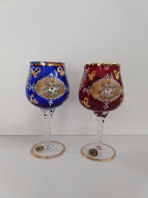 Photo 2 Murano glass wine glasses, 24K
