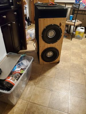 Photo 2 new 2500 watt power acoustic 12 in subs with costum box