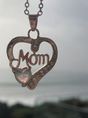 Gold over Sterling Silver Pendant Necklace Mom Engagement/Wedding/Birthday/Gift/Christmas for Sale in Miami, FL